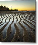 Low Tide On La Caleta Cadiz Spain Metal Print