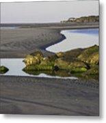 Low Tide On Tybee Island Metal Print