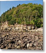 Low Tide Panorama Metal Print