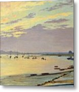 Low Tide Metal Print by W Savage Cooper
