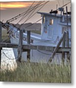Lowcountry Shrimp Boat Sunset Metal Print