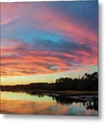 Lowcountry Sunset Charleston Sc Metal Print