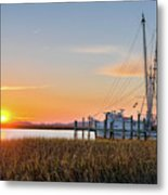 Lowcountry Sunset Metal Print