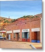 Lowell Arizona Pottery Building Old Police Car Metal Print