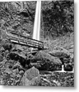 Lower Angle Of Elowah Falls In The Columbia River Gorge Metal Print