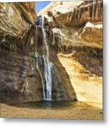Lower Calf Creek Fall Metal Print
