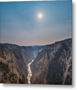 Lower Falls At Artist Point  Metal Print