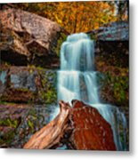 Lower Falls At Kaaterskill Metal Print