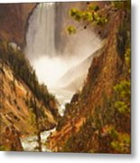 Lower Falls From Artists Viewpoint Metal Print