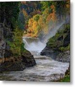Lower Falls Of The Genesee River Metal Print
