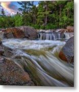 Lower Falls Of The Swift River Metal Print