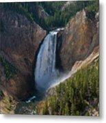 Lower Falls Of Yellowstone River Metal Print