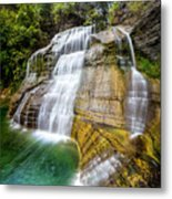 Lower Falls Profile At Enfield Glen Metal Print