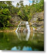 Lower Falls Reflection Of Enfield Glen Metal Print