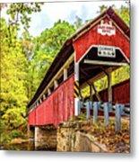 Lower Humbert Covered Bridge 3 Metal Print