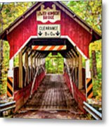 Lower Humbert Covered Bridge 5 Metal Print