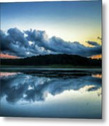 Lower Lake Sunset Metal Print