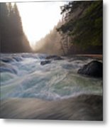 Lower Lewis River Falls During Sunset Metal Print