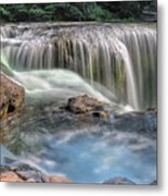 Lower Lewis River Falls Rush Metal Print