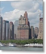 Lower Manhattan Panorama Metal Print