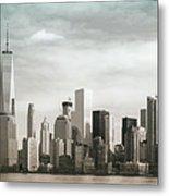 Lower Manhattan Panoramic Skyline Metal Print