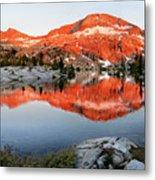 Lower Ottoway Lake Sunset - Yosemite Metal Print