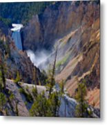 Lower Yellowstone Falls Metal Print