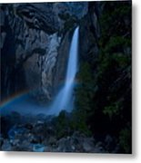 Lower Yosemite Falls Moonbow Metal Print