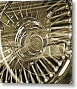 Lowrider Wheel Illusions 2 Metal Print
