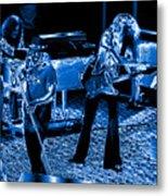 Ls #40 Enhanced In Blue Metal Print