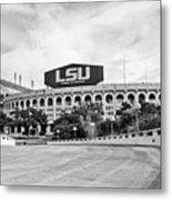 Lsu Tiger Stadium -bw Metal Print