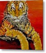 Lsu Tiger Metal Print