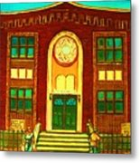 Lubavitch Synagogue Metal Print