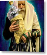 Lubavitcher Rebbe With Torah Metal Print by Sam Shacked