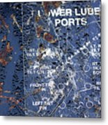 Lube Port Metal Print
