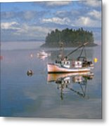 Lubec Waterfront Metal Print