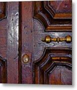 Lucca Door Metal Print