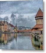 Lucerne Chapel Bridge Metal Print