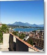 Lucerne Old Town In Switzerland Metal Print