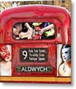 Lucha Bus London Metal Print