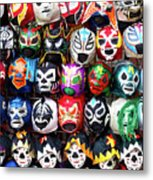 Lucha Libre Wrestling Masks Metal Print