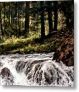 Lucia Falls In July Metal Print
