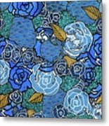 Lucia's Flowers Metal Print