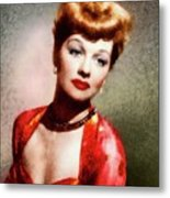 Lucille Ball, Vintage Actress Metal Print