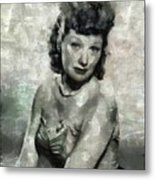 Lucille Ball Vintage Hollywood Actress Metal Print