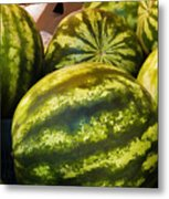 Lucious Watermelon Metal Print