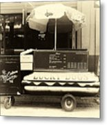 Lucky Dogs Antique Tone Metal Print by John Rizzuto