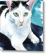 Lucky Elvis - Cat Portrait Metal Print