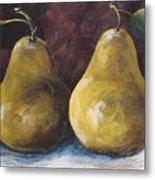 Lucky Pears Metal Print