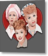 Lucy Expressions Gry Metal Print